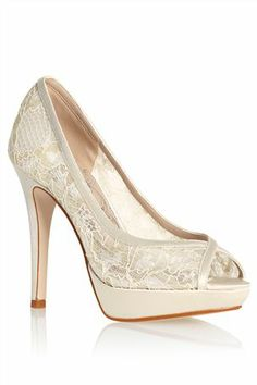 Buy Ivory Lace Peep Toes From The Next UK Online Shop