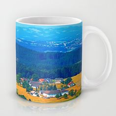 One summer day in the highlands Coffee Mug by patrickjobst First Day Of Summer, Summer Days, Highlands Coffee, Ceramic Mugs, Coffee Mugs, Custom Design, Ceramics, Ceramica, Pottery Mugs