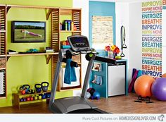 Create the ideal workout space at home using Tracy Lynn Studio's gym design ideas. We have the home gym decorating ideas to give your house and health a lift! Basement Gym, Basement Remodeling, Basement Ideas, Garage Gym, Small Garage, Home Gym Design, House Design, Smart Design, Studio Design