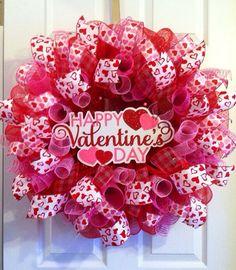 Valentine Wreath/Heart Valentine's Day Mesh by Wreaths4u2byPaula