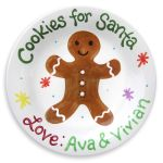 Gingerbread Personalized Cookie Plate $40.00