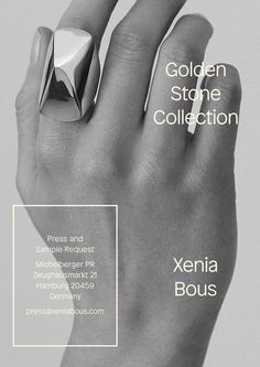 Poster A2 for Jewelry Designer Xenia Bous. Images by Serena Becker