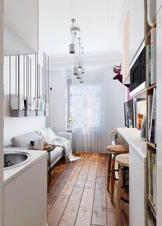 Small Studio Apartment Design, Tiny Studio Apartments, Small Apartment Decorating, Apartment Interior Design, Bedroom Apartment, Apartment Living, Apartment Ideas, Apartment Hunting, Bedroom Loft