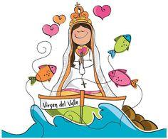Virgen del Valle. Patrona de la Isla de Margarita, Venezuela. Designed by P. Capriles Jesus Crafts, Belly Painting, Holy Mary, Pintura Country, Saint Nicholas, Mother Mary, Digi Stamps, Religious Art, Virgin Mary