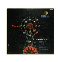 "design-is-fine: ""Erik Nitsche, artwork for record sleeve Mozart Serenade No. More to see & read: Source "" Music Album Covers, Music Albums, Gold Labels, Classical Music, 1950s, Sleeve, Artwork, Design, Manga"