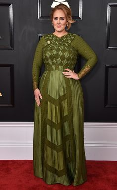 Adele from Grammys 2017 Red Carpet Arrivals  In Givenchy