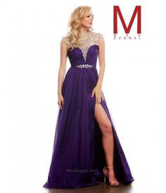 Please allow a 4 day handling time before this dress ships. Purple has never looked so lovely! This designer gown by Ma....Price - $458.00-MaGoefAh