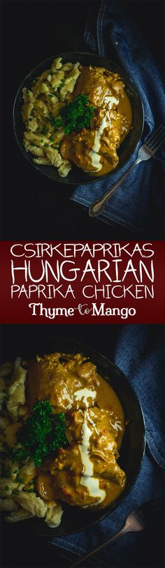 As the weather begins to get a little cooler, this Csirkepaprikás – aka Hungarian-style paprika chicken – will hit all the comfort food spots!