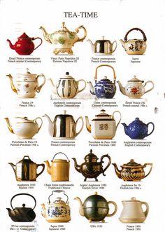 Tipos de bules para chá.