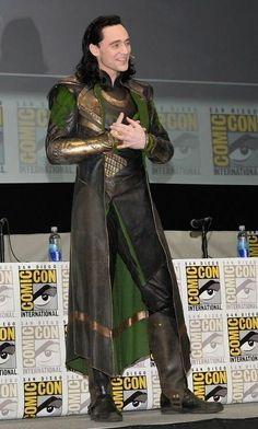 Tom Hiddleston as Loki at Comic-Con in San Diego
