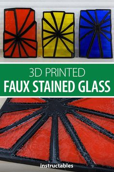 While this isn't stained glass in the traditional sense, these art pieces are made from real shattered glass pieces held together in a 3D printed base, and then welded into place with a 3D pen. #Instructables #3Dprint #home #decor #Fusion360 Amazing Crafts, Fun Crafts, Fusion 360, 3d Pen, Faux Stained Glass, Shattered Glass, Wallpaper Iphone Cute, Diy Stuff, How To Take Photos