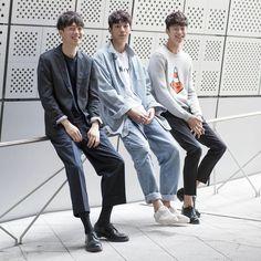 Jang Ki Yong, Lee Cheol Woo, and Byeong Woo Seok at SFW 16SS shot by Choi Pil Jun
