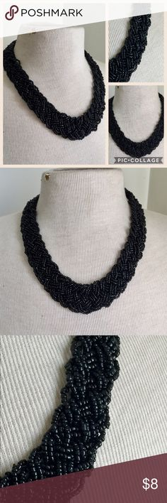 Braided black Statement necklace Great condition Jewelry Necklaces