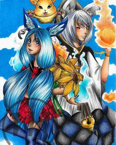 My blade and soul fanart, color pencils :)