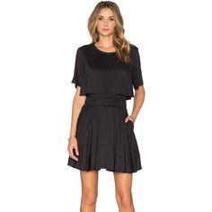 IRO Felly Dress Dresses ($239) ❤ liked on Polyvore featuring dresses, elastic waist dress, layered dress and iro dress