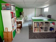 beautiful creative space/sewing room