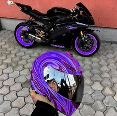 (notitle) - Cars and Motor Bike - Motorrad Moto Bike, Motorcycle Bike, Motorcycle Outfit, Purple Motorcycle, Full Face Motorcycle Helmets, Motorbike Girl, Classic Motorcycle, Yamaha Motorcycles, Cars And Motorcycles