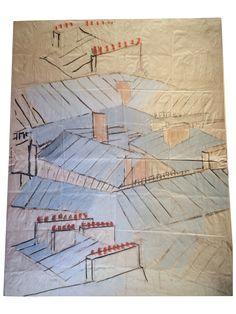 Paule Marrot Rooftops Print on Chairish.com