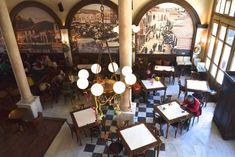 καφενείο Πανελλήνιον Μυτιλήνη Λέσβος Coffee Places, Tea Lights, Table Settings, Candles, Traditional, Table Decorations, Greek, Health, Shops