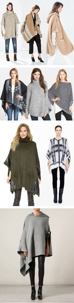 I was just talking Ponchos last week over at Ask Suzanne Bell, http://asksuzannebell.com/not-your-grandmas-poncho/ If you are still unsure, here is some more wonderful  inspiration via YLF! The Big Poncho Trend - YLF