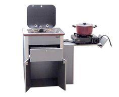 Reimo - VWT5 Multivan Pantry-Küche, Fertigteil mit Spüle, Glasabdeckung und Technik