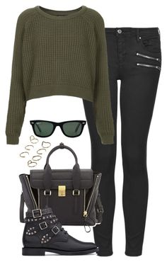 """Untitled #4863"" by eleanorsclosettt ❤ liked on Polyvore featuring Topshop, Ray-Ban, 3.1 Phillip Lim, Yves Saint Laurent and ASOS"
