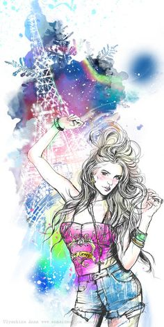 Variety of illustrations (3 illustartions) by Anna Ulyashina - illustrator, via Behance