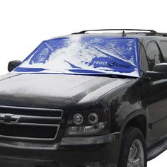 The FrostGuard Winter Windshield Cover eliminates scraping snow and ice from your car windshield! http://www.wickedgadgetry.com/2017/03/14/winter-windshield-cover-cars-suvs/ #winterwindshieldcover #wintersnowcover #windshieldsnowcover #windshieldcover #snowcover