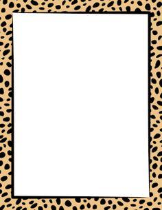 Free cheetah print border templates including printable border paper and clip art versions. Printable Border, Printable Frames, Printable Labels, Borders For Paper, Borders And Frames, Giraffe Print, Cheetah Print, Pink Cheetah, Jungle Clipart