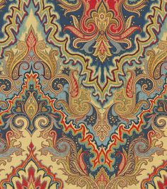 Buy the Waverly Paisley Verse Jewel Home Décor Fabric at Michaels. This versatile fabric is great for window treatments, duvet and sham covers, throw pillows, light upholstery, and more. Motif Paisley, Paisley Fabric, Paisley Pattern, Paisley Print, Tablecloth Fabric, Drapery Fabric, Ruffled Curtains, Textile Design, Fabric Design