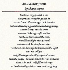 Easter Poems For Church