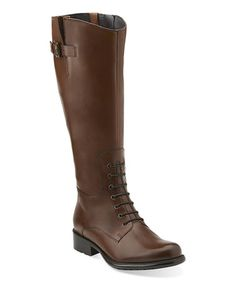 Loving this Cognac Mullin Clove Leather Boot on #zulily! #zulilyfinds
