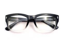 black and clear frames