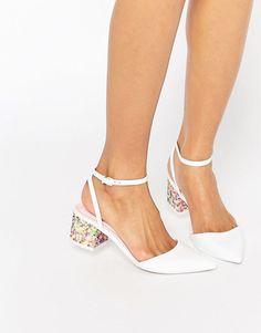 ASOS STARDOM Pointed Embellished Heels