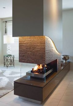 Start using these interior decor ideas to brighten up your home and give it new life. Home decorating is fun and can change your house into a home whenever you understand how to get it done. Home Fireplace, Modern Fireplace, Fireplace Design, Fireplaces, Home Living Room, Living Room Designs, Living Room Decor, Dining Room, House And Home Magazine