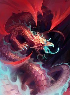 red-blue dragon by michalivan on deviantART