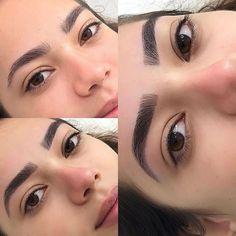 Get The Perfect Eyebrow Shape For Your Face Shape Mircoblading Eyebrows, Eyebrows Goals, Natural Eyebrows, Thick Eyebrows, Arched Eyebrows, Eyelashes, Eyebrow Makeup Tips, Permanent Makeup Eyebrows, Cut Crease Makeup