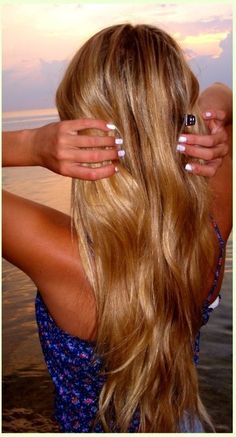 """Long & Beautiful Brown Blonde Mix Extensions 
