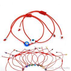 Red String Blue Evil Eye Bracelets Simple Amulet Beaded Bracelets Charm Bracelets For Women Charms And Charm Bracelets B Charm Bracelets, Bracelets For Men, Beaded Bracelets, Amazing Red, Evil Eye Bracelet, Macrame Projects, How To Make Necklaces, Micro Macrame, Diy Accessories