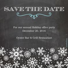 Save the Date Chalkboard Snowflakes designed by tumbalina on Pingg.com