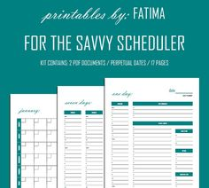For the Savvy Scheduler / Daily Weekly & by PrintablesbyFatima