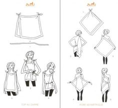 SCARF IDEAS This would be soooooo cute with a tank and shire scarves