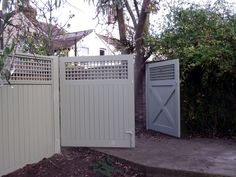 Painted solid & trellis gates