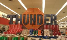 Grocery store display in Western Oklahoma...How freaking cool!!!