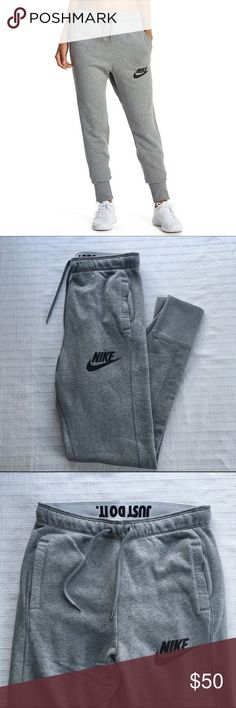 Women's Nike Rally Plus Jogger Pants The Nike Rally Jogger Women's Sweatpants are made with a cozy cotton blend in a slim-fitting profile for warmth and a streamlined look. Style/Color: 718823-091   •Women's size Large, runs big and would be best for a XL.   •New with tags •No Trades •100% authentic Nike Pants Track Pants & Joggers