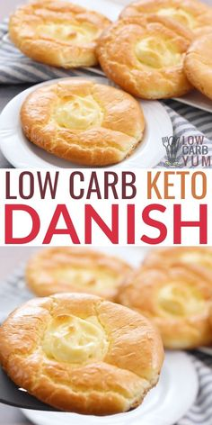 Keto Danish with Cream Cheese Recipe A keto danish made using a low carb cloud bread recipe. This low carb danish with cream cheese is just grams of net carbs for each pastry! Low Carb Cloud Bread Recipe, Lowest Carb Bread Recipe, Keto Bread, Cloud Bread Keto, Ketogenic Recipes, Low Carb Recipes, Healthy Recipes, Ketogenic Diet, Dukan Diet