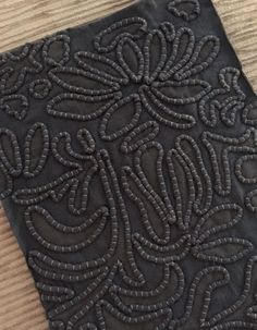 ALABAMA CHANIN swatch of the month-september: by Cindy Lucovsky on Cindy Lucovsky's (Cindy) Story on Steller Embroidery Fashion, Ribbon Embroidery, Beaded Embroidery, Embroidery Stitches, Embroidery Patterns, Fabric Art, Fabric Crafts, Sewing Crafts, Sewing Projects