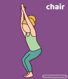 Chair pose is an empowering pose for children. Download the empowerment deck if you are a parent or the deck with curriculum if you plan to teach yoga!