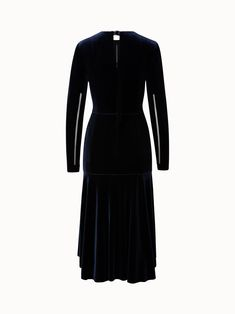 Akris® Official – Long Sleeve Velvet Dress Velvet Material, Stylists, High Neck Dress, Long Sleeve, Warm, Beautiful, Collection, Winter, Dresses