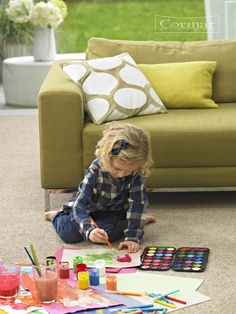 Cormar's Primo Plus.  Colour Putty. A bleach cleanable polypropylene plain twist carpet available in 18 bright colours and neutral shades. Approx Retail Price £19 sq.m.